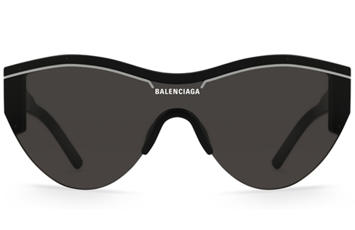 Balenciaga BB0004SA 001 black grey Akiniai nuo saulės Unisex