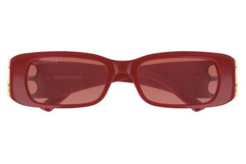 Balenciaga BB0096S 003 red gold red 51 Akiniai nuo saulės Moterims