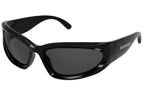 Balenciaga BB0157S 001 black grey 65 Akiniai nuo saulės Vyrams
