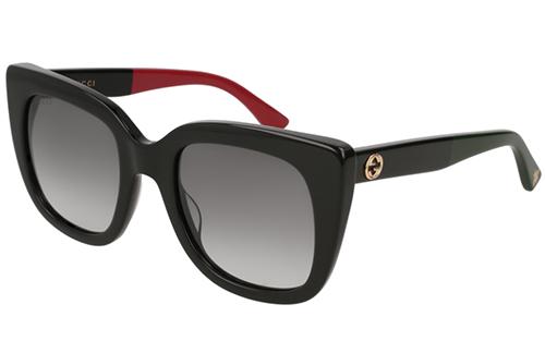 Gucci GG0163S 003 black black grey 51 Akiniai nuo saulės Moterims