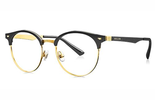Bolon BJ6037B12 black/gold 50 Akinių rėmeliai